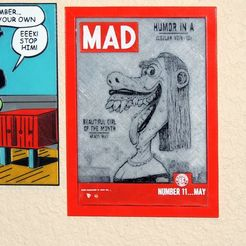 Free 3d printer designs Lena the Hyena, Mad #11, May 1954 - Basil Wolverton , JayOmega