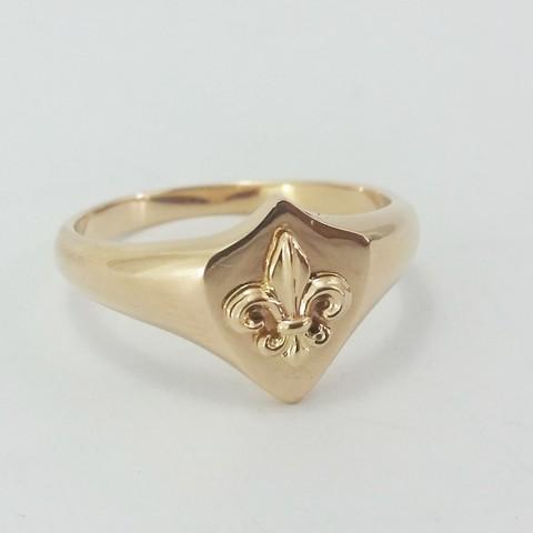 STL Lily flower ring, Vivalatina