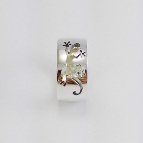 bague salamandre argent (16) (Copy).jpg Download STL file Lizard ring • 3D printable object, Vivalatina