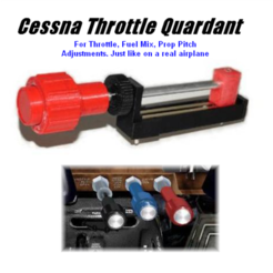 Cessna Style Throttle Quadrant 3D model, DTA