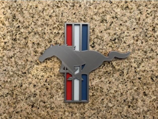 7842f36be4c0bf6a1dfd40ecb7df8e63_preview_featured.jpg Télécharger fichier STL gratuit Ford Mustang Logo Signalétique • Objet pour imprimante 3D, MeesterEduard