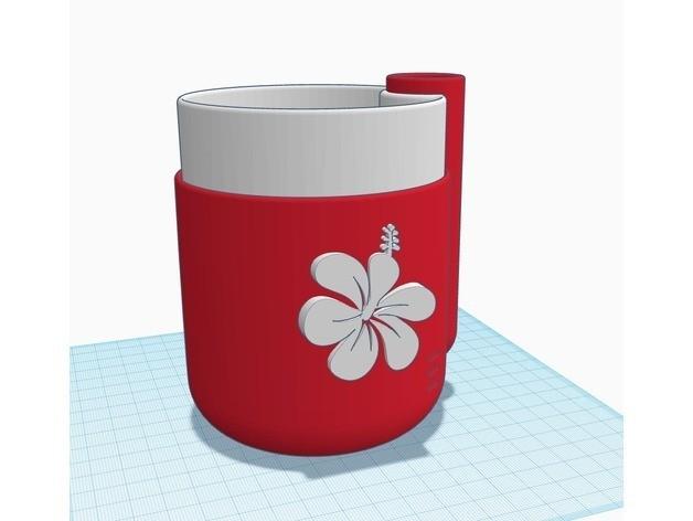 365b79234b3334d30de6560b01dc38cf_preview_featured.jpg Télécharger fichier STL gratuit Emblème de fleur d'Hibiscus pour planteuse auto-arrosée par des produits parallèles. • Modèle pour impression 3D, MeesterEduard
