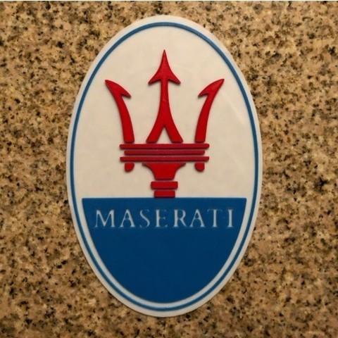 Télécharger objet 3D gratuit Maserati Logo Signe, MeesterEduard