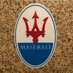 Download free 3D printing models Maserati Logo Sign, MeesterEduard