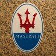 Free Maserati Logo Sign 3D printer file, MeesterEduard
