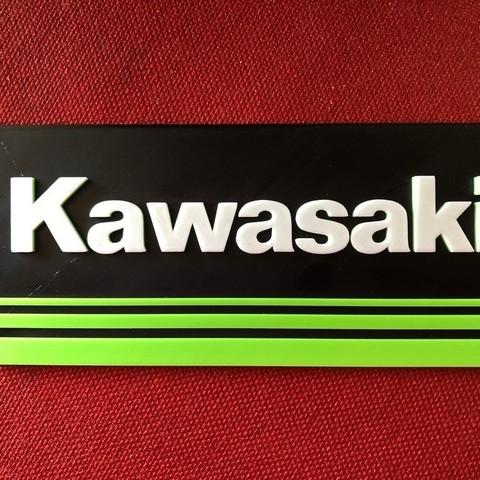 Objet 3D gratuit Panneau logo Kawasaki, MeesterEduard