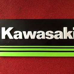 Download free 3D printing files Kawasaki Logo Sign, MeesterEduard