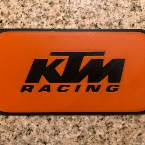 Download free 3D printer templates KTM Motorcycles Sign, MeesterEduard