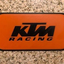 Download free 3D printer templates KTM Motorcycles Sign, MeesterEduard