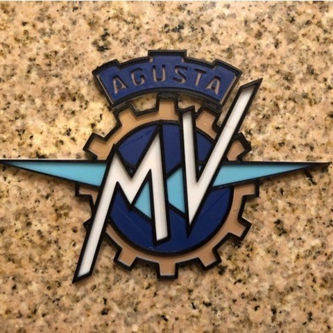Download free 3D printing models MV Agusta Motorcycles Logo Sign, MeesterEduard