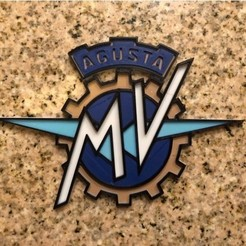 Free 3D print files MV Agusta Motorcycles Logo Sign, MeesterEduard