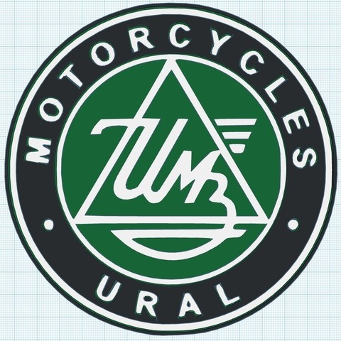 96b80b36303d5b5044db73cd1174a23c_display_large.jpg Download free STL file Ural Motorcycles Logo Sign • Template to 3D print, MeesterEduard