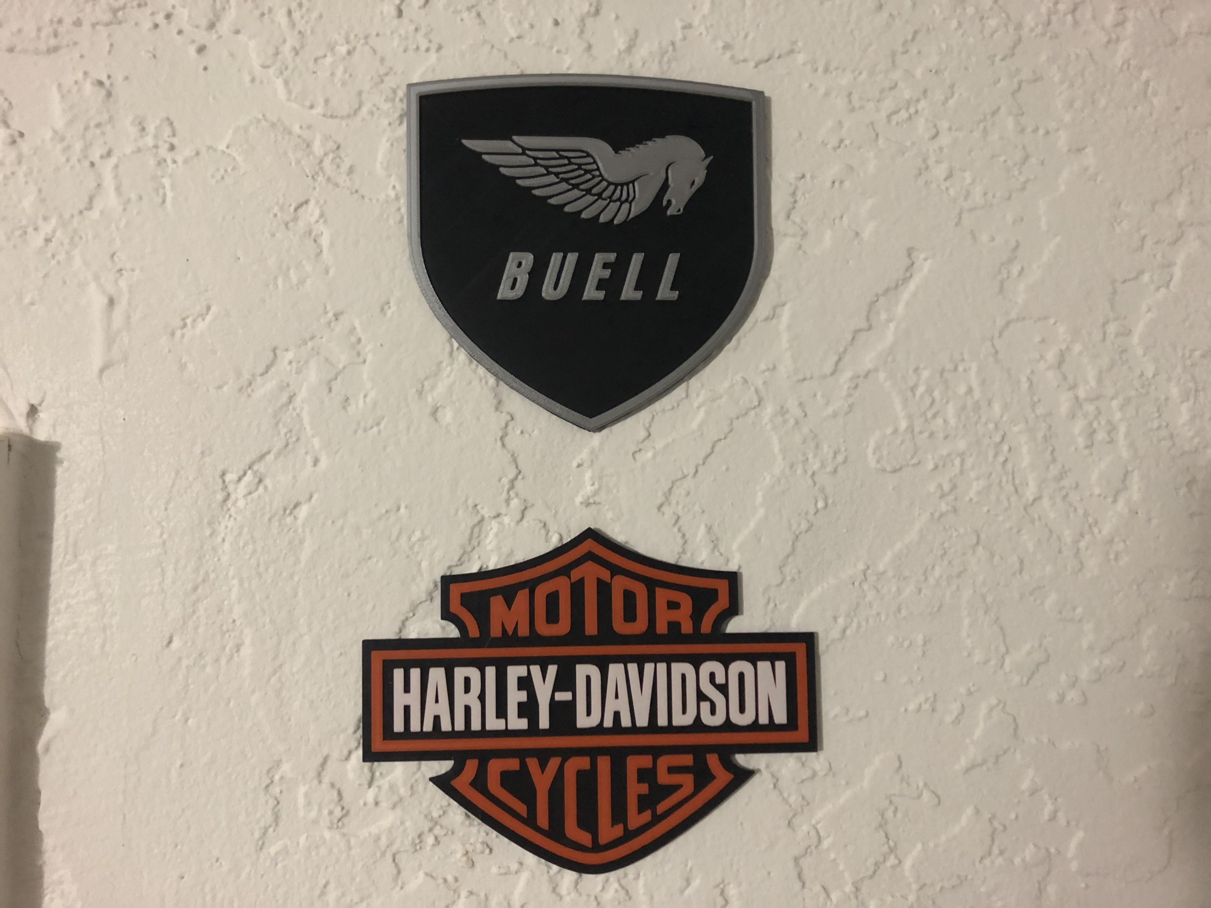 IMG_1904.jpg Download free STL file Buell American Motorcycles Pegasus Logo Sign • 3D printing model, MeesterEduard