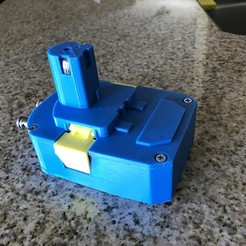 Download free STL file Ryobi Battery Pack to AC Adapter • 3D print object, MeesterEduard