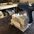 Free 3D printer designs Glue Gun Caddy Stand w Cord Wrap, MeesterEduard
