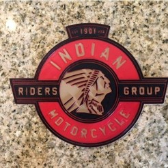 Free STL Indian Motorcycles Logo Sign, MeesterEduard