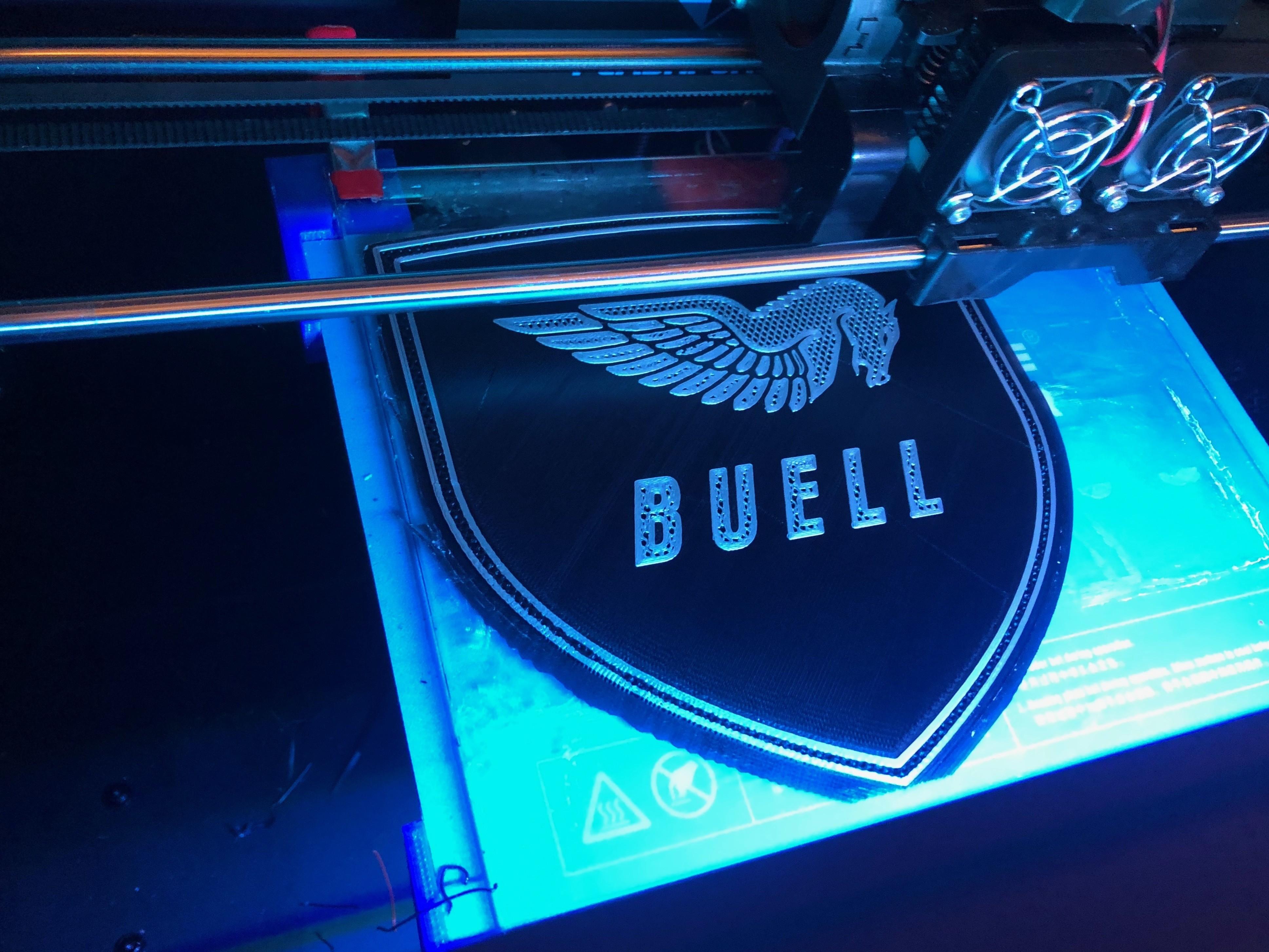 IMG_1900.jpg Download free STL file Buell American Motorcycles Pegasus Logo Sign • 3D printing model, MeesterEduard