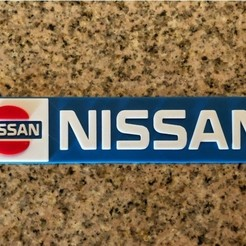 Download free 3D printer model Nissan Logo Sign, MeesterEduard