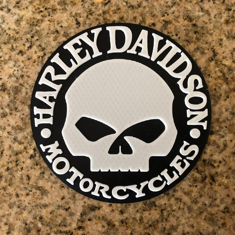 Télécharger fichier imprimante 3D gratuit Harley Davidson Willie G Skull Logo G Skull Logo, MeesterEduard