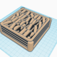 Download free 3D model Customizable Coasters with Holder, MeesterEduard