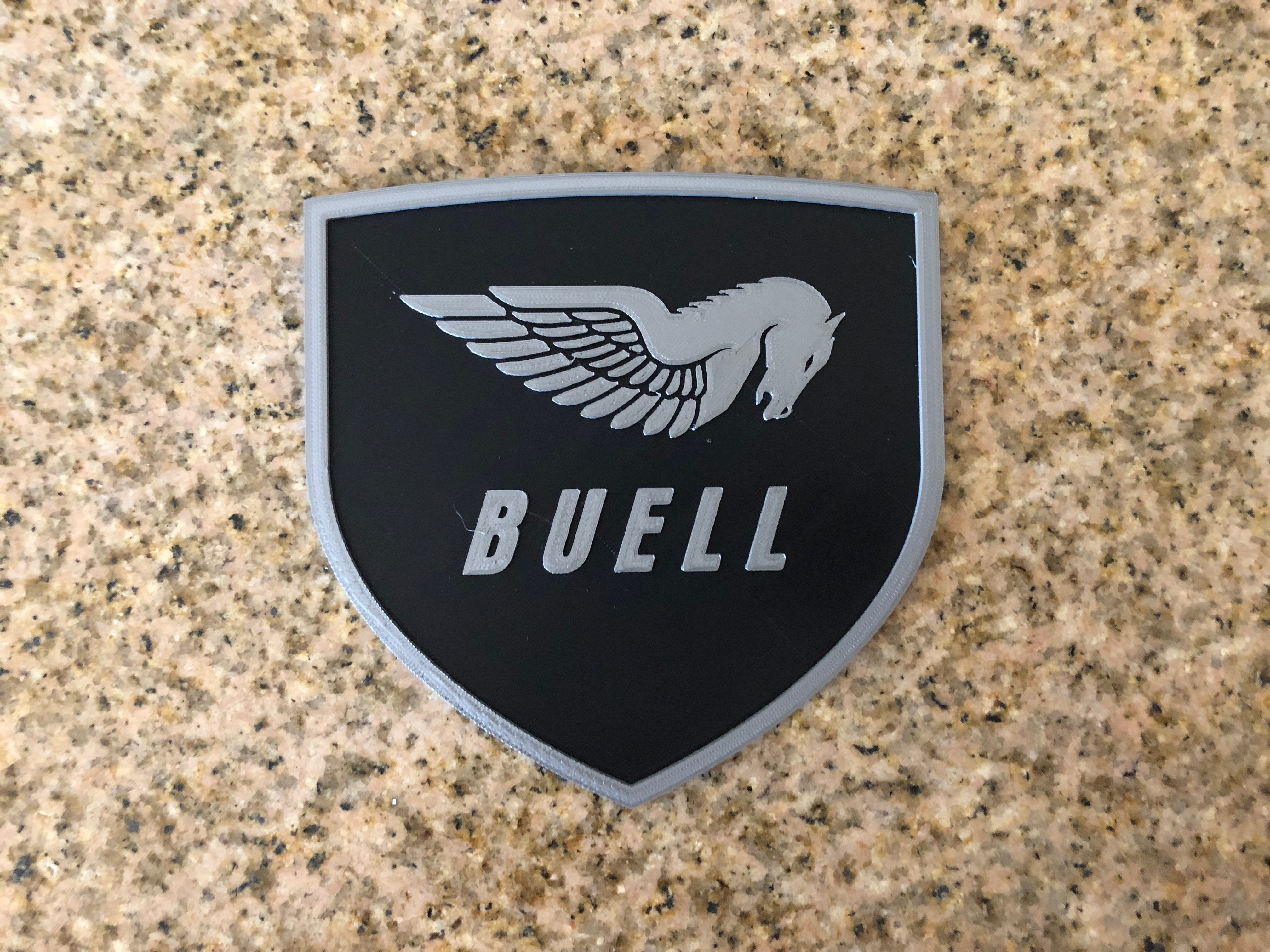 IMG_1903.jpg Download free STL file Buell American Motorcycles Pegasus Logo Sign • 3D printing model, MeesterEduard