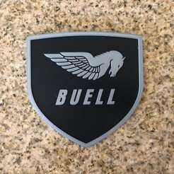 Download free 3D printer files Buell American Motorcycles Pegasus Logo Sign, MeesterEduard