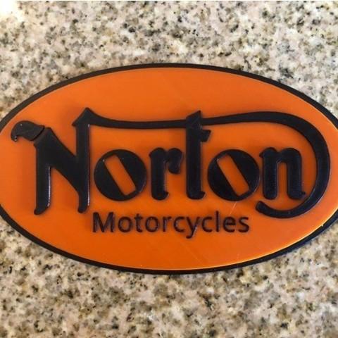 Free 3D print files Norton Motorcycles Logo Sign, MeesterEduard