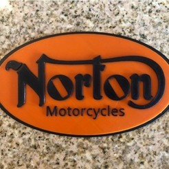 Free 3D printer file Norton Motorcycles Logo Sign, MeesterEduard