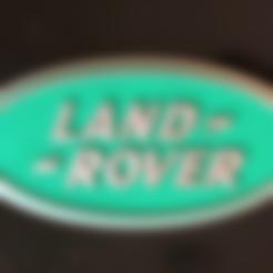Descargar diseños 3D gratis Cartel con el logotipo de Land Rover, MeesterEduard