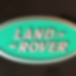 Free 3D printer designs Land Rover Logo Sign, MeesterEduard