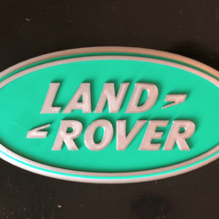 Download free STL Land Rover Logo Sign, MeesterEduard