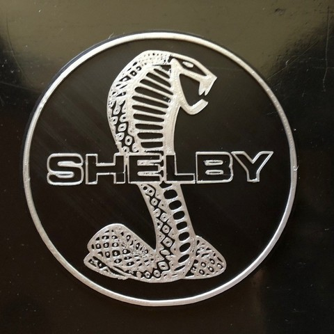 download free stl file shelby cobra logo sign 3d print model cults shelby cobra logo sign
