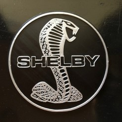 Download free 3D printing files Shelby Cobra Logo Sign, MeesterEduard