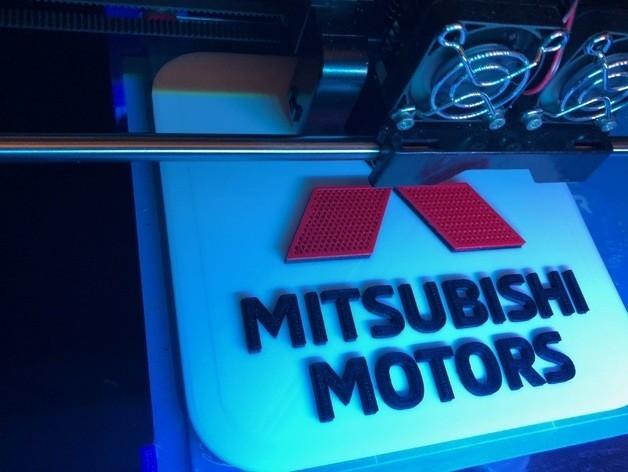 d316c38c314cfb6757d607ebd6ecbd12_preview_featured.jpg Download free STL file Mitsubishi Motors Logo Sign • Object to 3D print, MeesterEduard