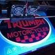 2f897a63a18a13d40bcd523776398a6d_preview_featured.jpg Download free STL file Triumph Motorcycles Logo Sign • 3D print object, MeesterEduard