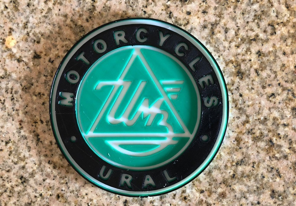 faa7148d49ace4a6982bb3f55420d103_display_large.jpg Download free STL file Ural Motorcycles Logo Sign • Template to 3D print, MeesterEduard