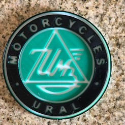 Download free 3D printing templates Ural Motorcycles Logo Sign, MeesterEduard