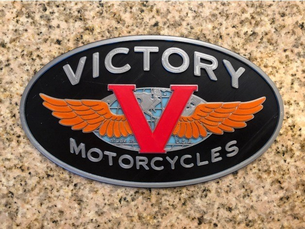 3528e193da09c6f45af261405b8663fa_preview_featured.jpg Download free STL file Victory Motorcycles Logo Sign • 3D printing model, MeesterEduard