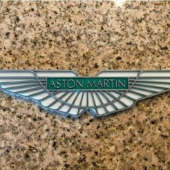 Download free 3D printer files Aston Martin Logo Sign, MeesterEduard