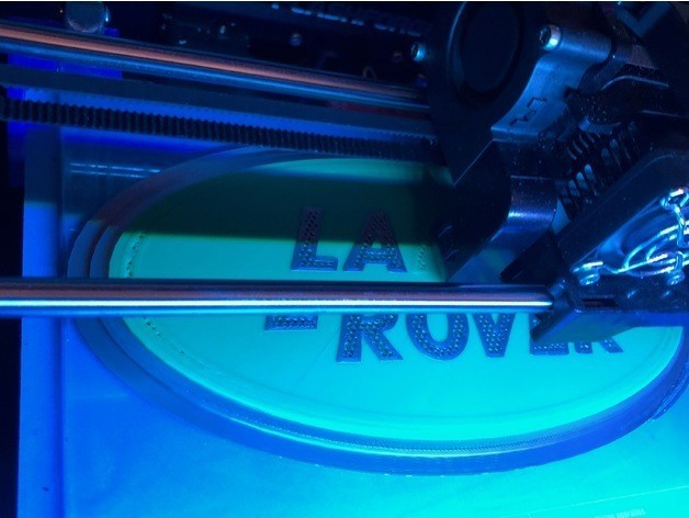 28376604c902f77e86bf4d6186ff057d_preview_featured.jpg Download free STL file Land Rover Logo Sign • 3D printing design, MeesterEduard