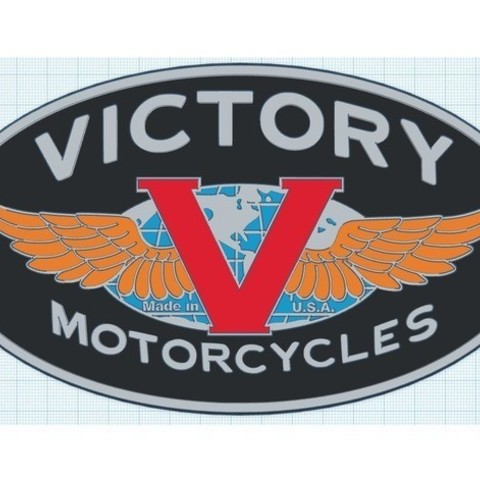 b15c242b2f99f830897acb0e22f0bc25_preview_featured.jpg Download free STL file Victory Motorcycles Logo Sign • 3D printing model, MeesterEduard