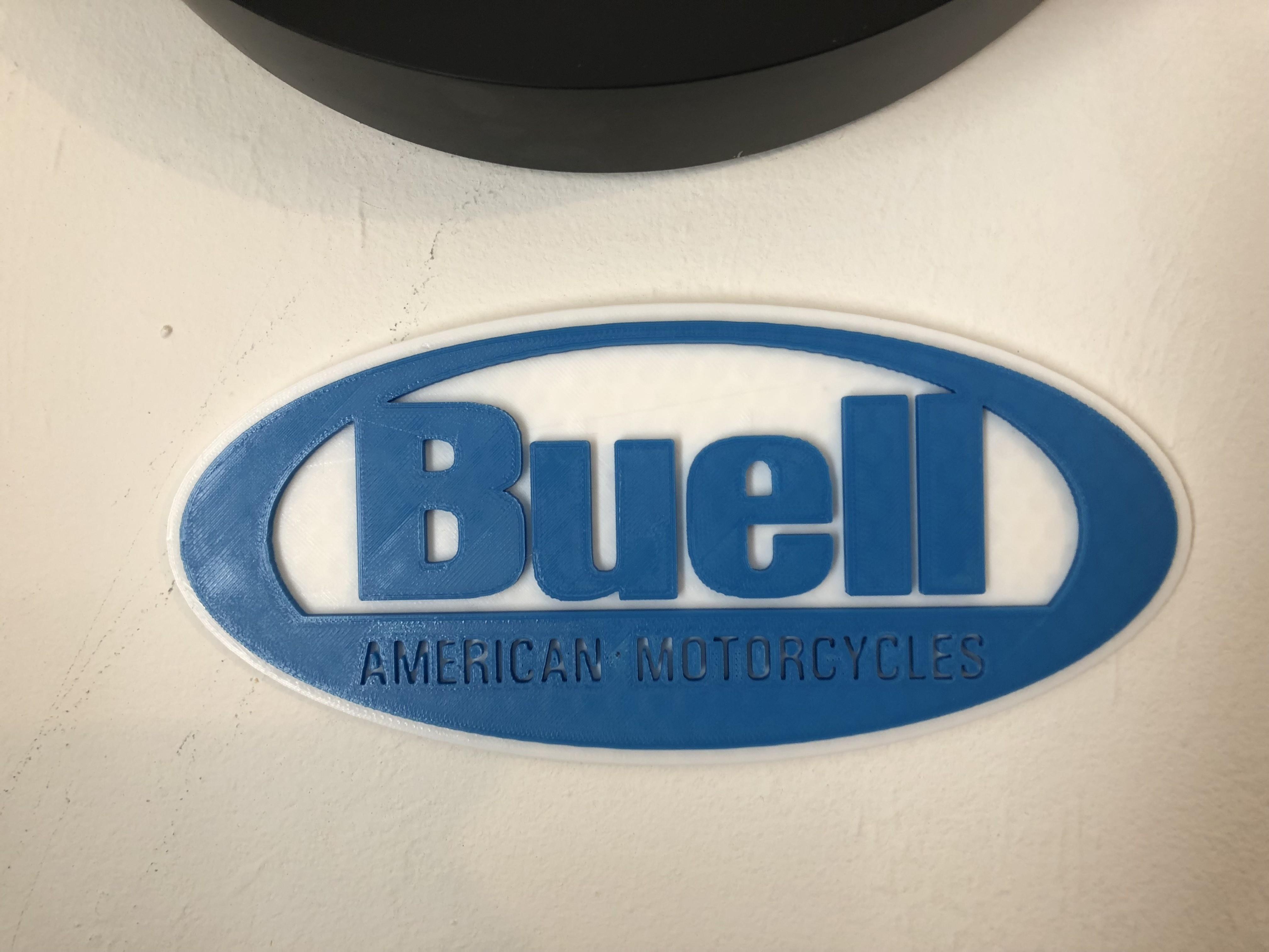 IMG_1825.jpg Download free STL file Buell American Motorcycles Logo Sign • 3D printing model, MeesterEduard