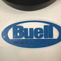 Download free 3D model Buell American Motorcycles Logo Sign, MeesterEduard