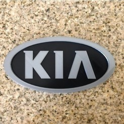Download free 3D printer designs Kia Logo Sign, MeesterEduard