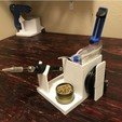 Free 3d printer designs Soldering Iron Caddy Stand w Cord Wrap, MeesterEduard