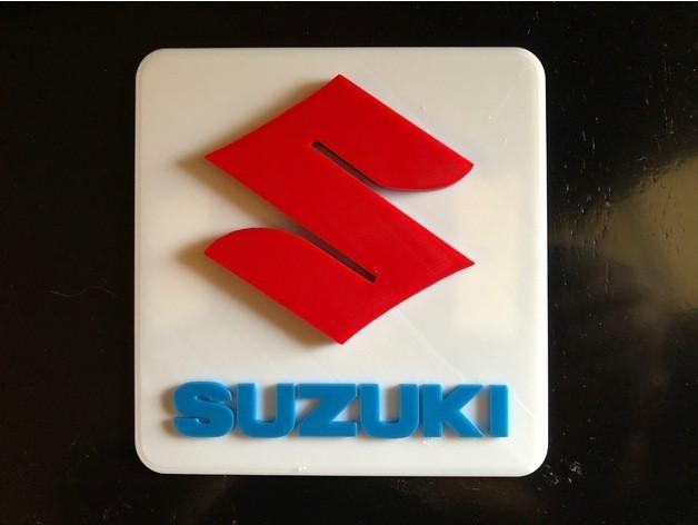 5b5291542b77f520d71d1321b09d0ee9_preview_featured.jpg Télécharger fichier STL gratuit Panneau Logo Suzuki • Design pour impression 3D, MeesterEduard