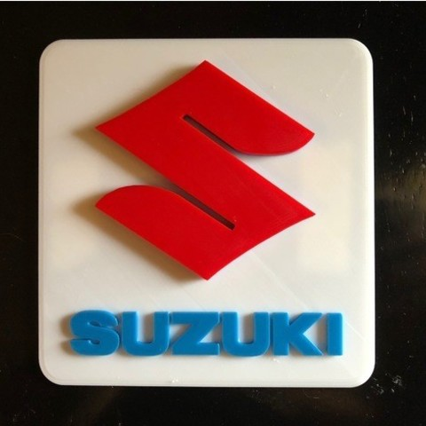 Download free STL file Suzuki Logo Sign, MeesterEduard