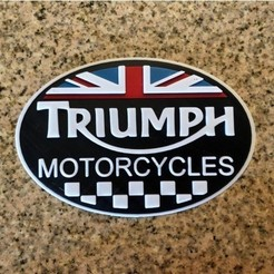 Free 3D printer designs Triumph Motorcycles Logo Sign, MeesterEduard