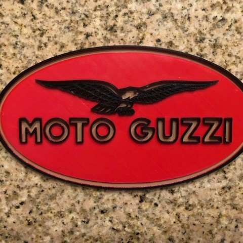 Download free 3D printer model Moto Guzzi Motorcycles Logo Sign, MeesterEduard