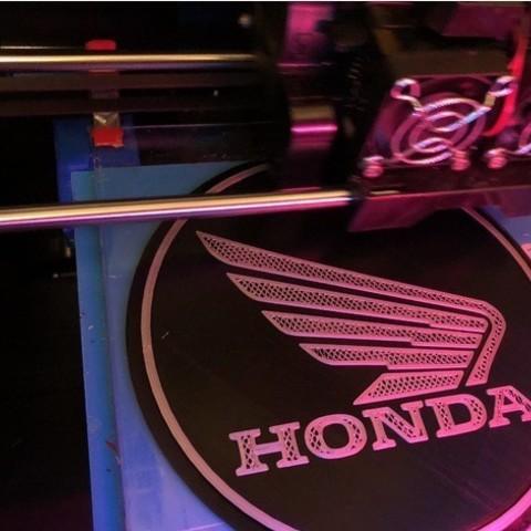 dd96d5c5b509c06fb7aea81574fe924c_preview_featured.jpg Download free STL file Honda Motorcycles Logo Sign • 3D print model, MeesterEduard